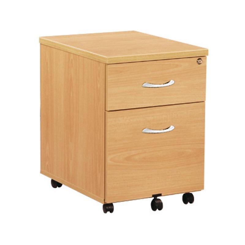 Caisson mobile 2 tiroirs dont 1 pour dossiers suspendus buronext - Caisson 2 tiroirs dossiers suspendus ...